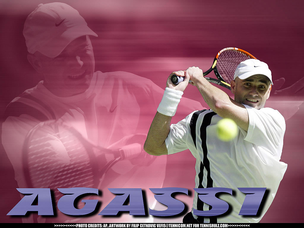 Andre Agassi Cool Wallpaper   Sports Wallpaper Image featuring Tennis 1024x768