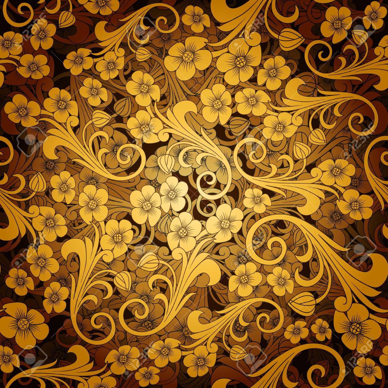 Orient Or Russia Design Luxury Ornamentation Wallpaper Floral 1300x1300