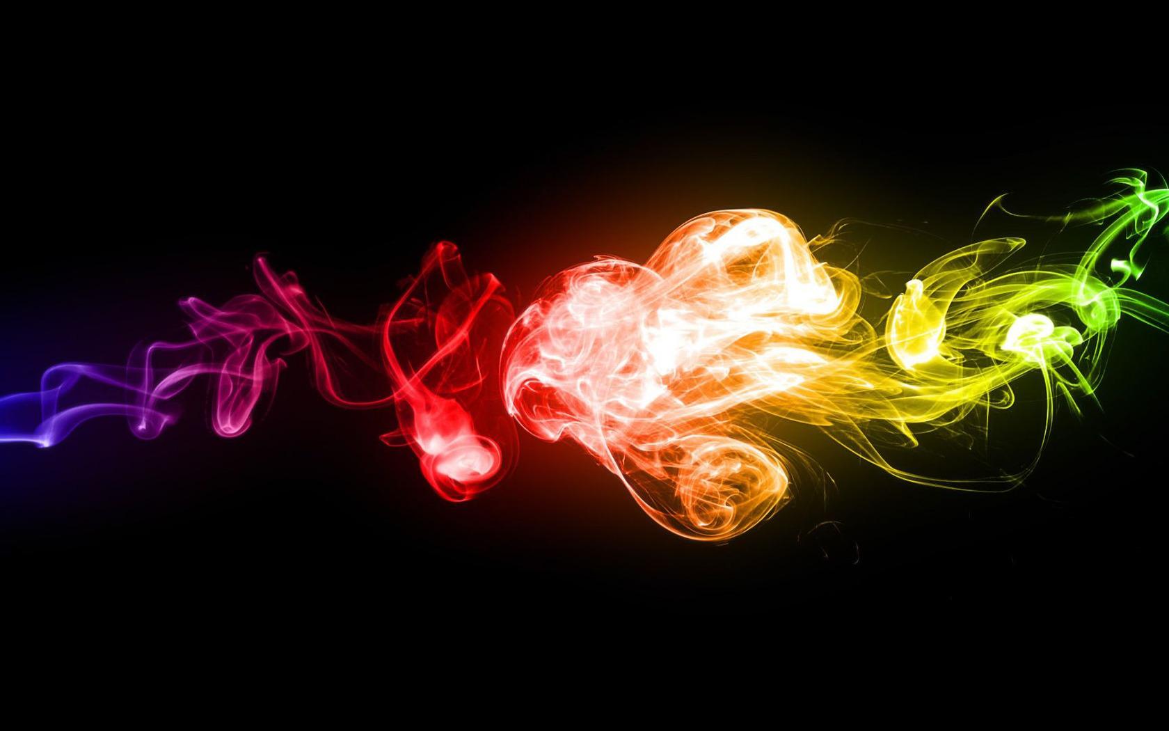 Colorful smoke wallpaper 6509 1680x1050