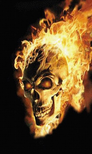 Download Flaming Skull Live Wallpaper for Android by badcompanyapps 307x512