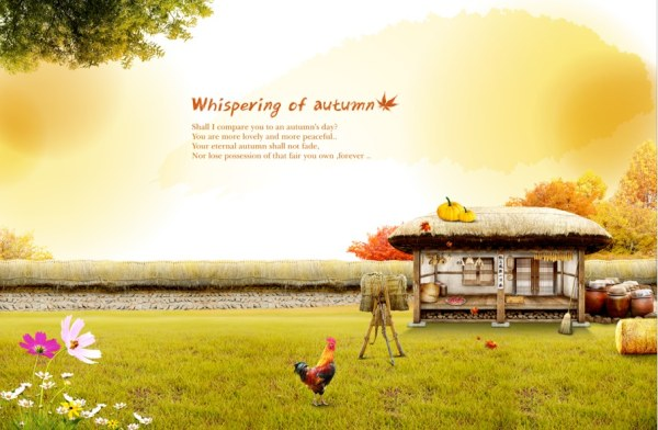 Autumn farm psd background art Over millions vectors stock photos 600x392