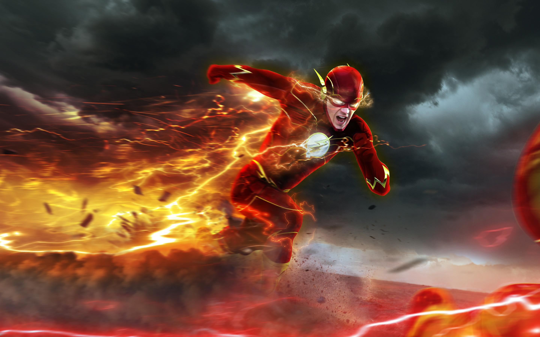 Flash Barry Allen Wallpapers HD Wallpapers 2880x1800