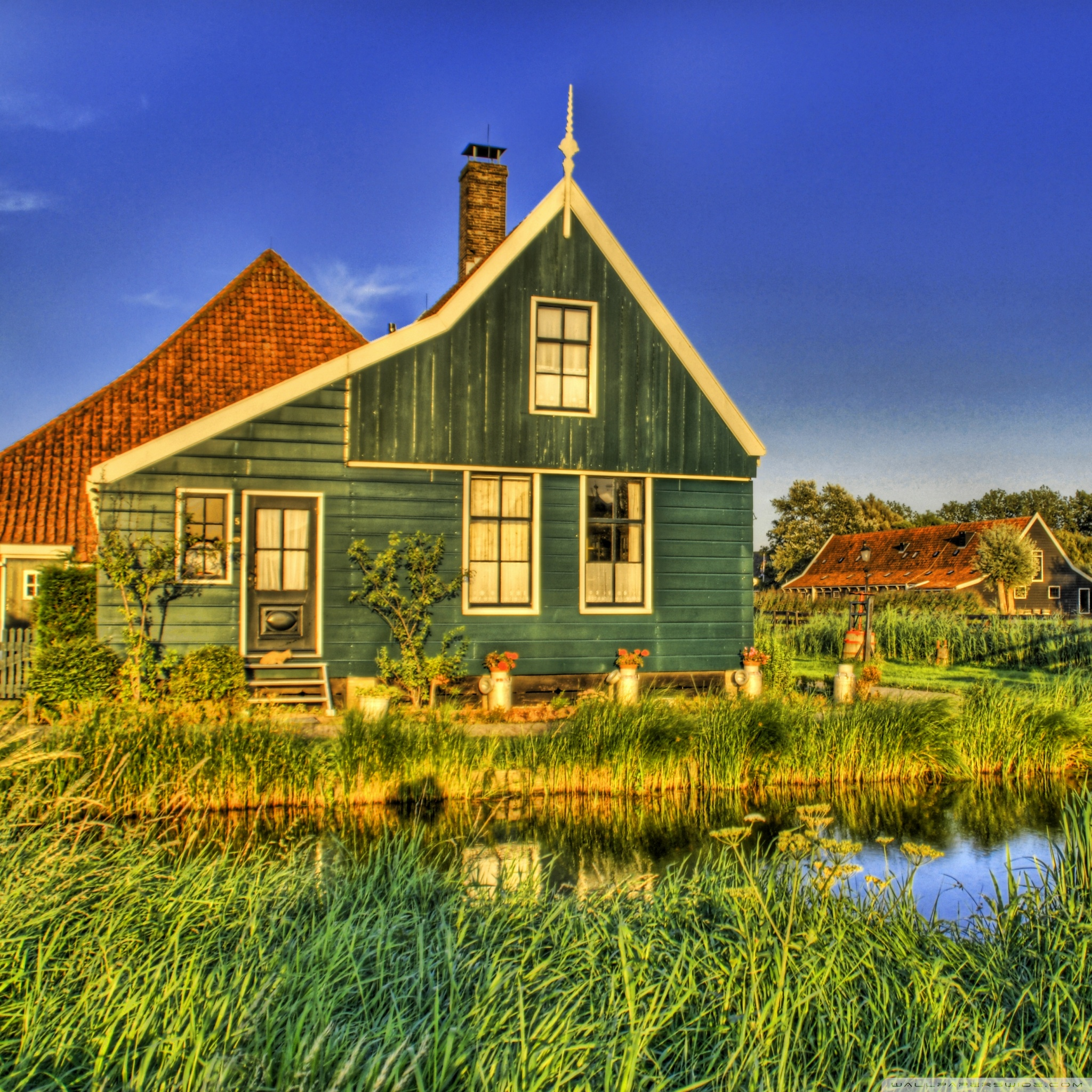 Holland Farmhouse 4K HD Desktop Wallpaper for 4K Ultra HD TV 2048x2048