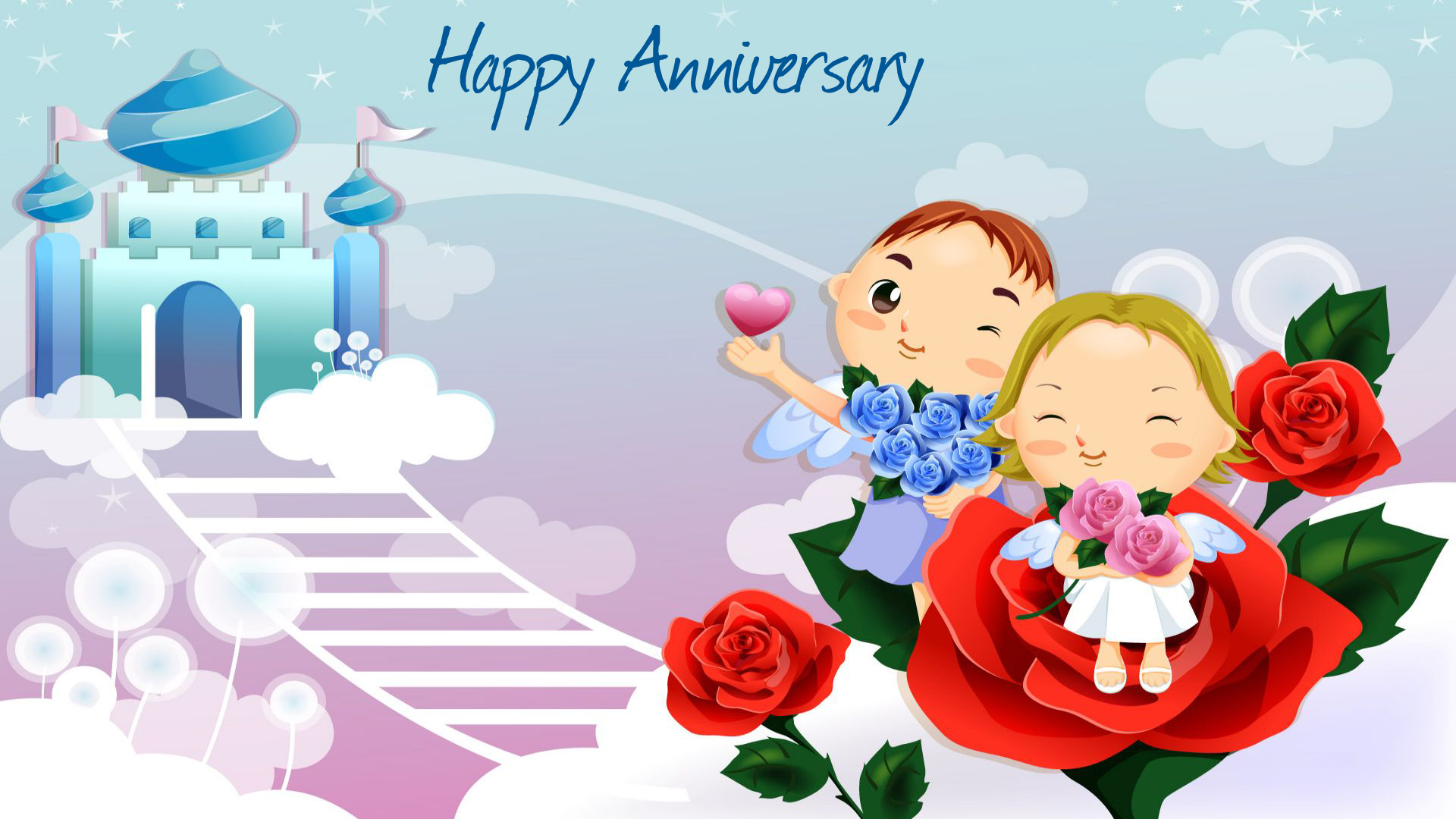 Anniversary Wishes Card Wallpaper For Wishes And Desktop Background  1920x1080
