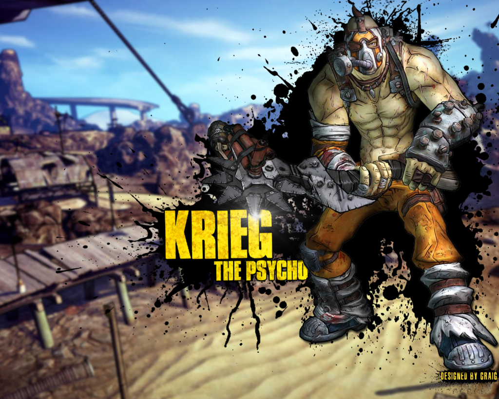 Krieg The Psycho   Borderlands 2   Wallpaper by ThatCraigFellow on 1024x819