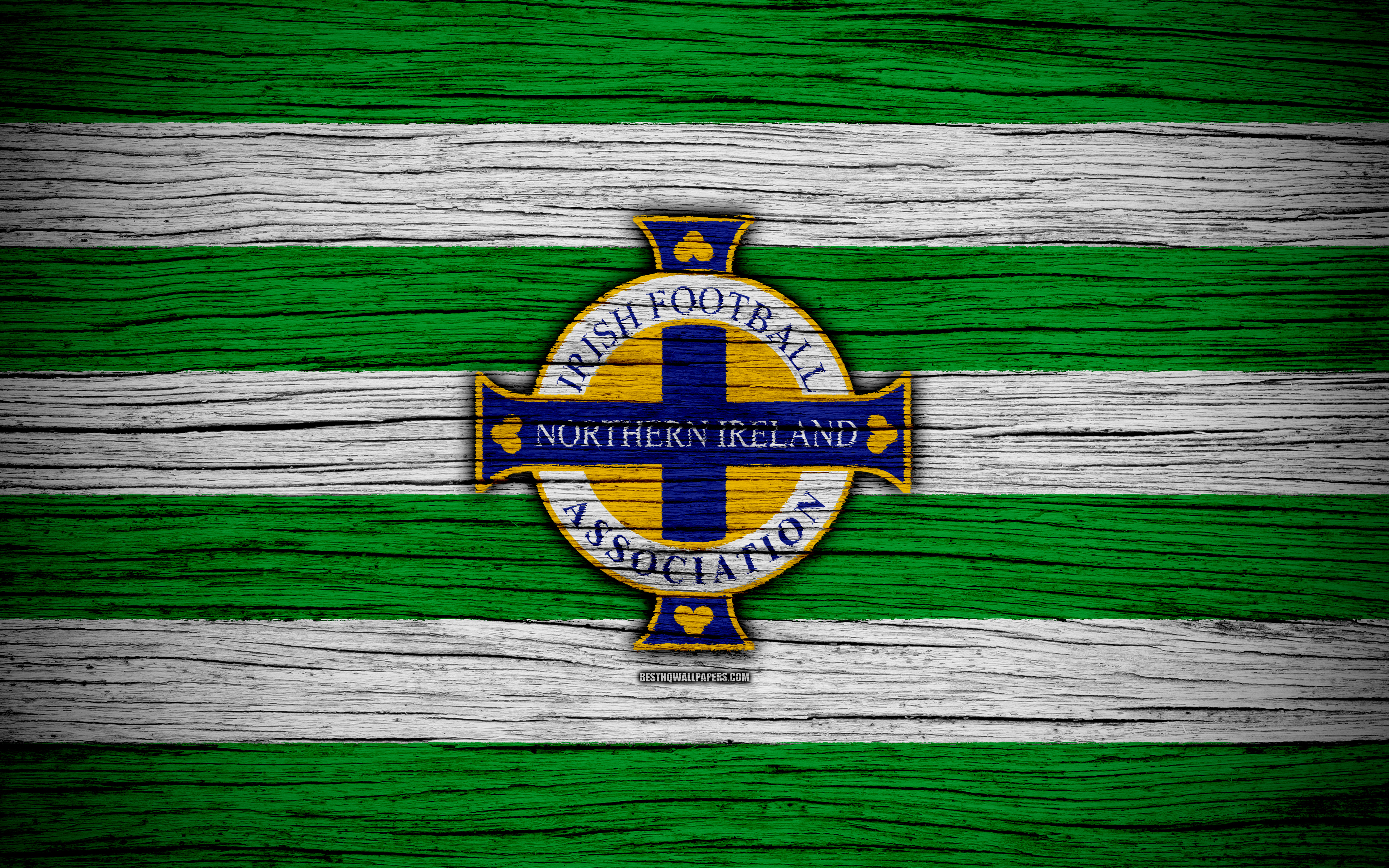 Download wallpapers 4k Northern Ireland national football team 3840x2400