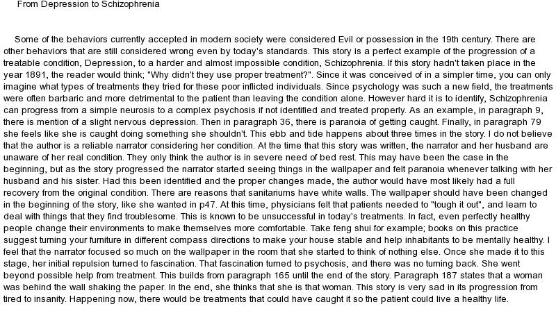 50 Feminist Analysis Of The Yellow Wallpaper On