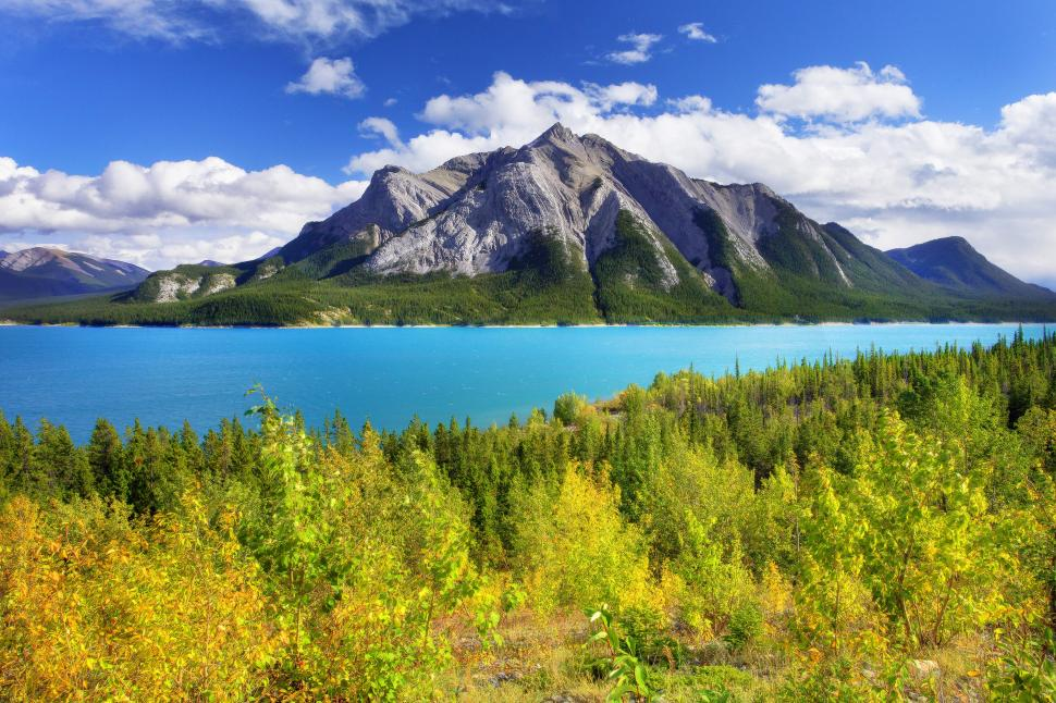 Abraham Lake Canada Alberta wallpaper nature and landscape 970x646