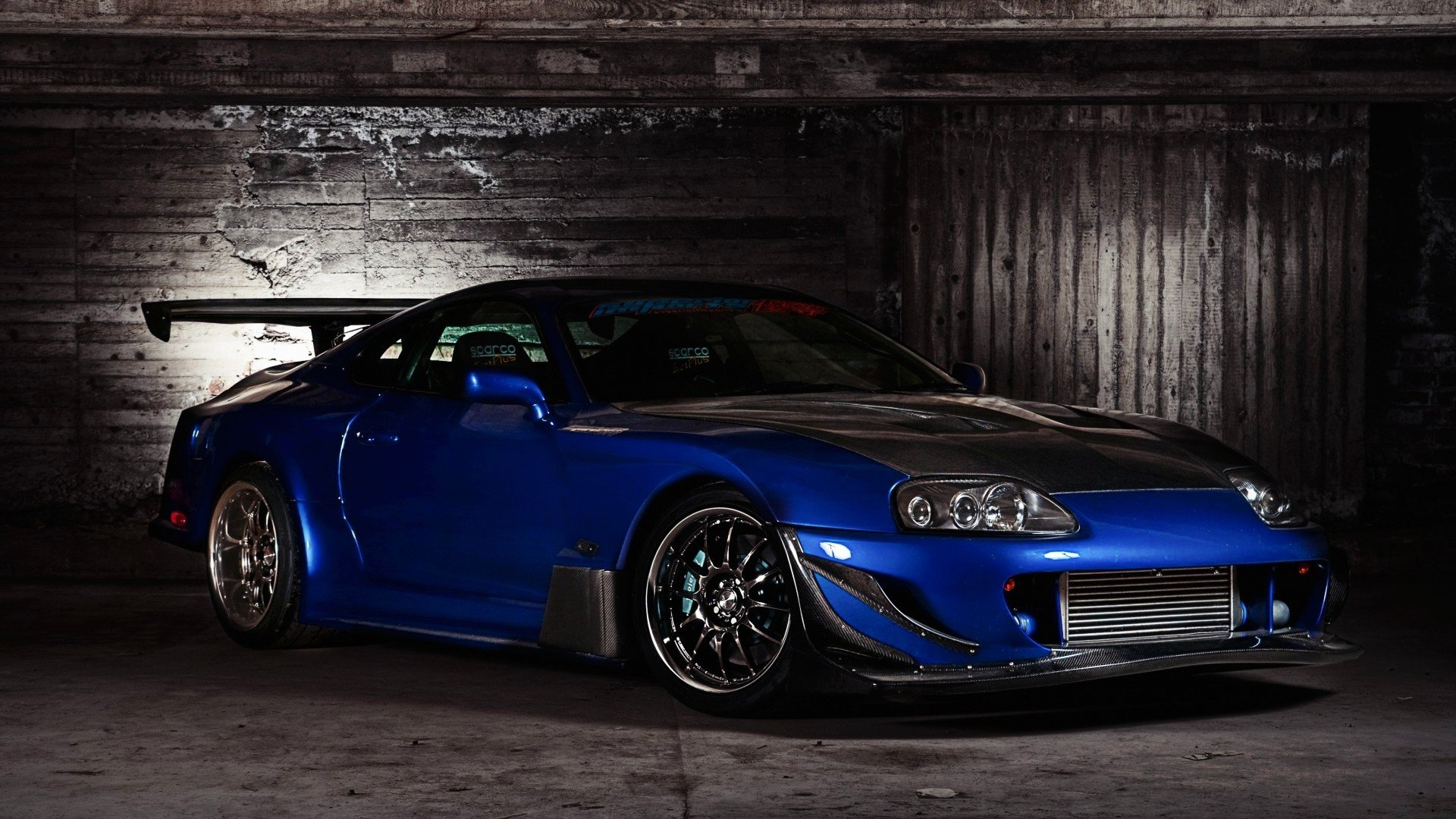 tuning Toyota Supra spoiler sports car Toyota Supra Turbo wallpaper 1920x1080