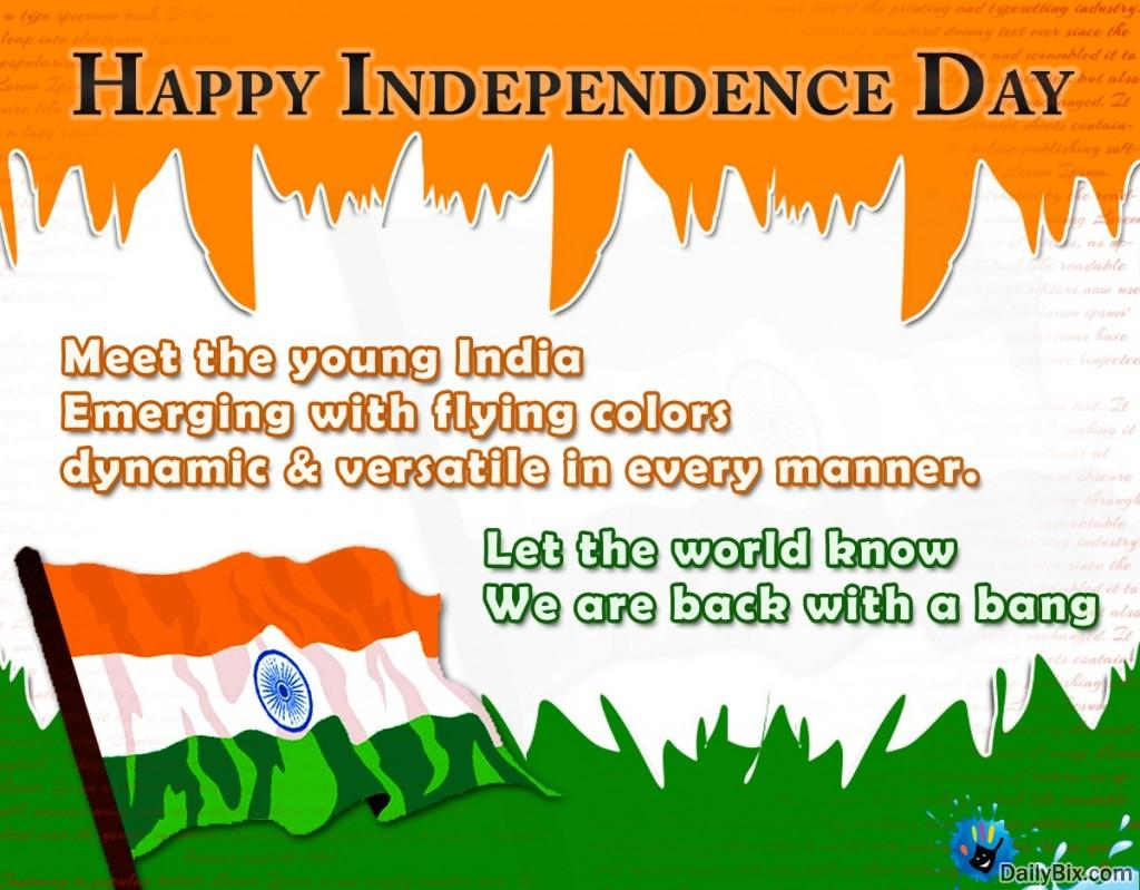independence day 3 essay To mark this occasion of getting independence we have been celebrating 15th august every year as the independence day as it is a national day, it is celebrated in the capital of our country with great joy the prime minister of our country hoists the national flag on the historic red fort and speaks to.