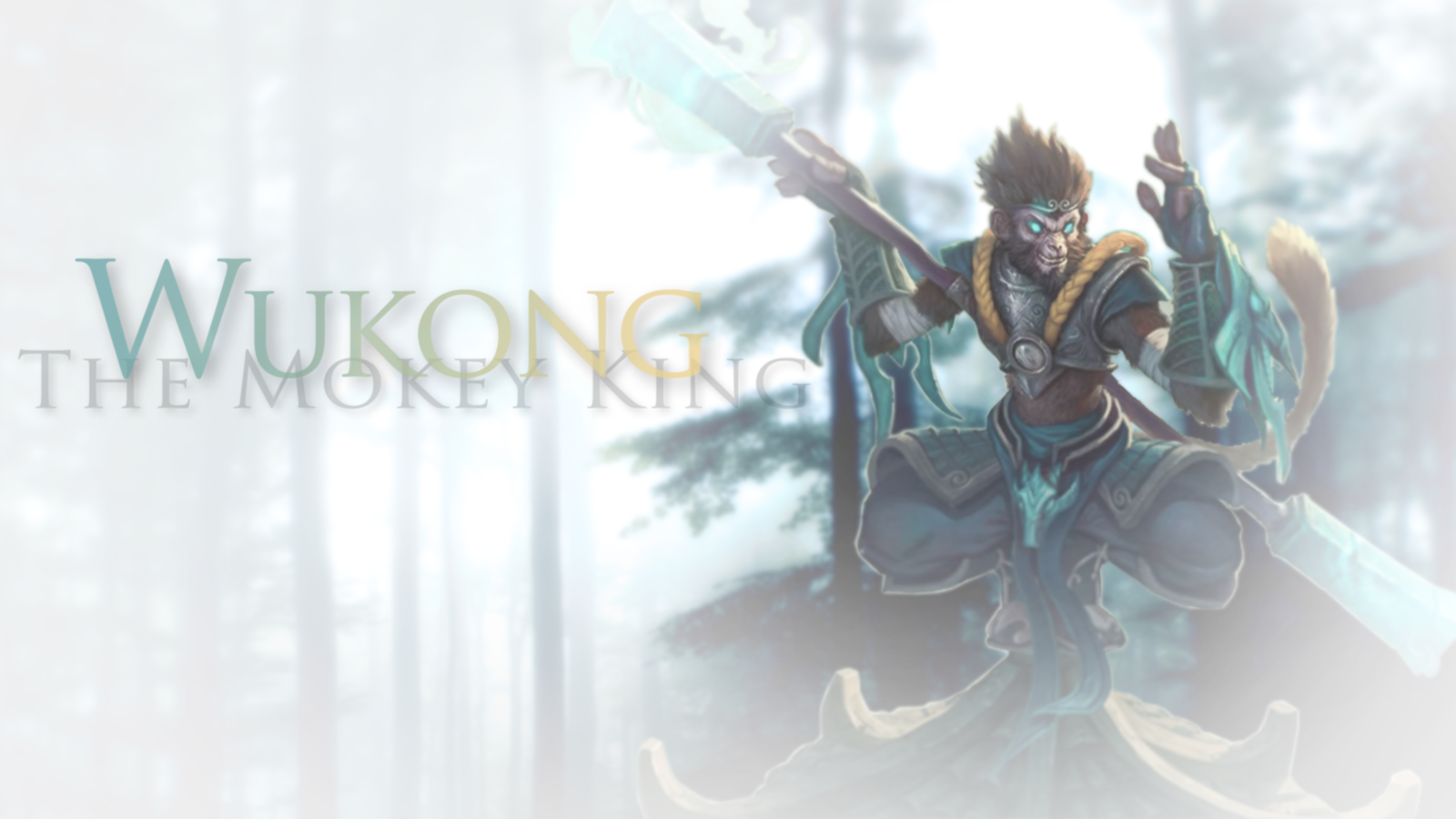 Wukong Wallpaper   White   League Of Legends by SonsOfParagon on 1600x900