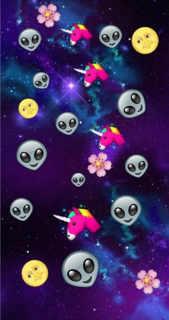 Iphone Emoji Heart Unicorn Emoji Wallpape...