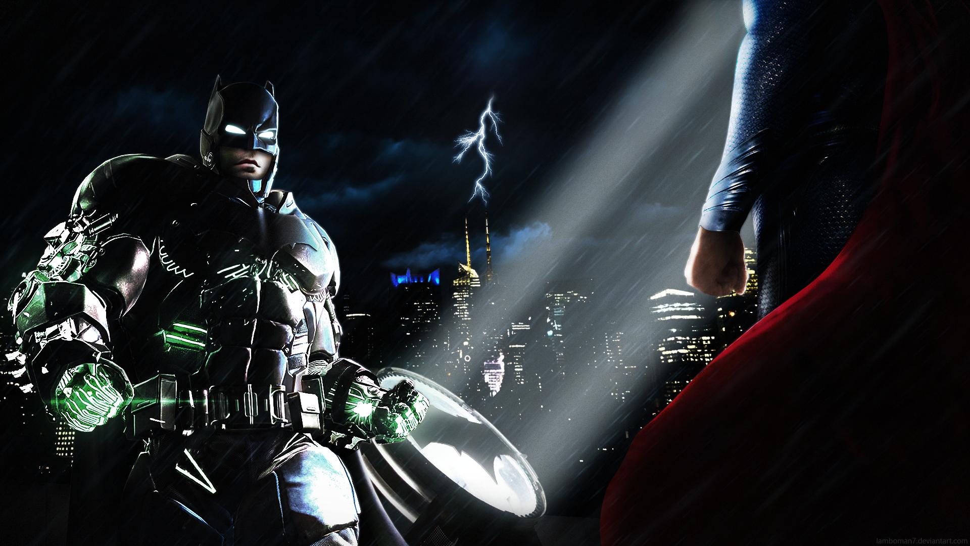 Batman V Superman Showdown PosterWallpaper By LamboMan7 On 1920x1080