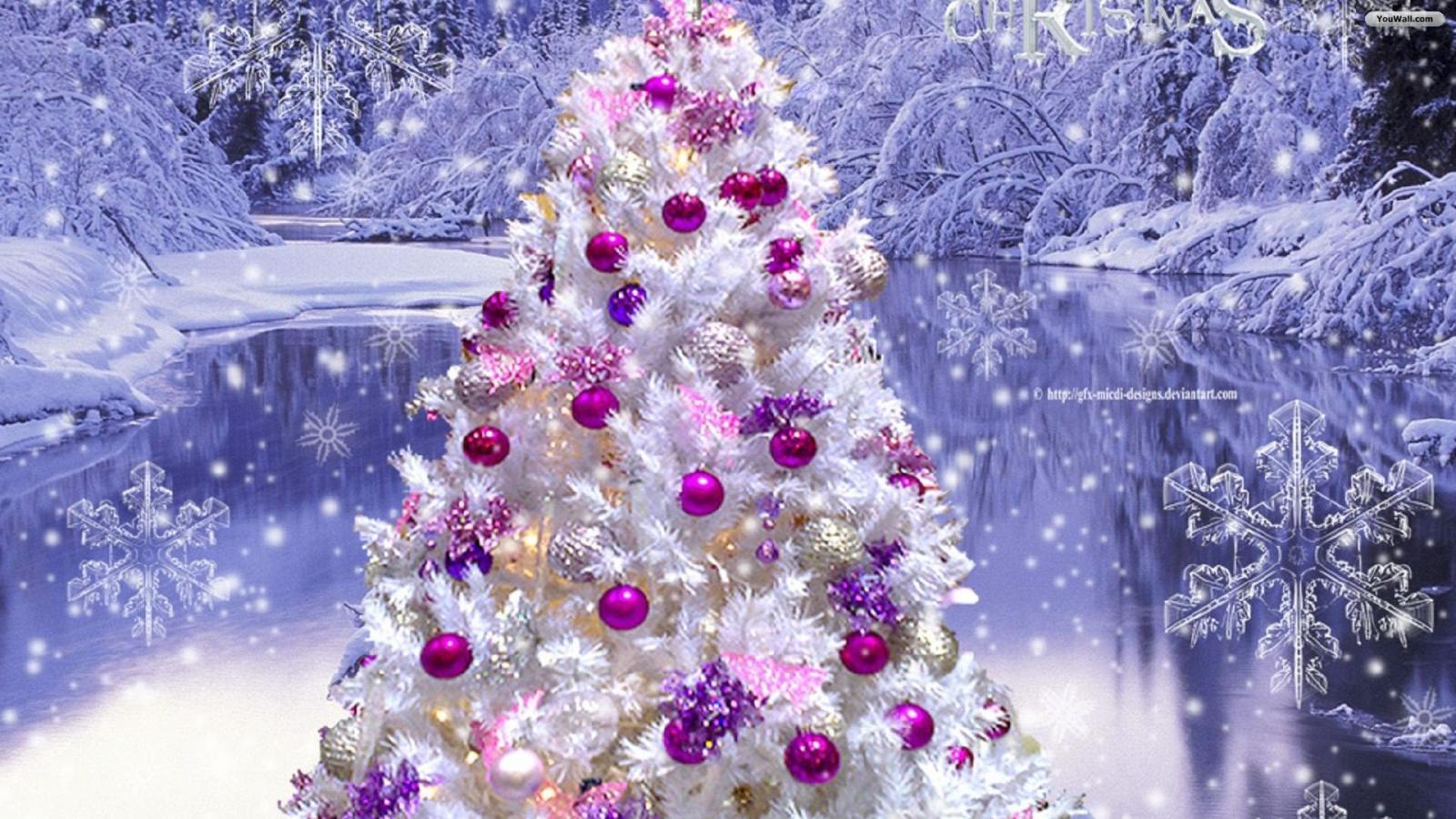 Pink Christmas Tree Wallpaper   wallpaperwallpapersfree wallpaper 1600x900