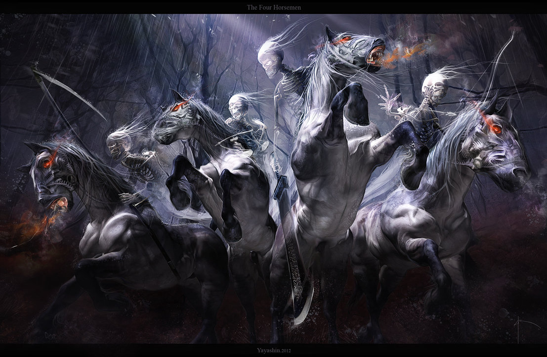 THE FOUR HORSEMEN by Yayashin 1107x722