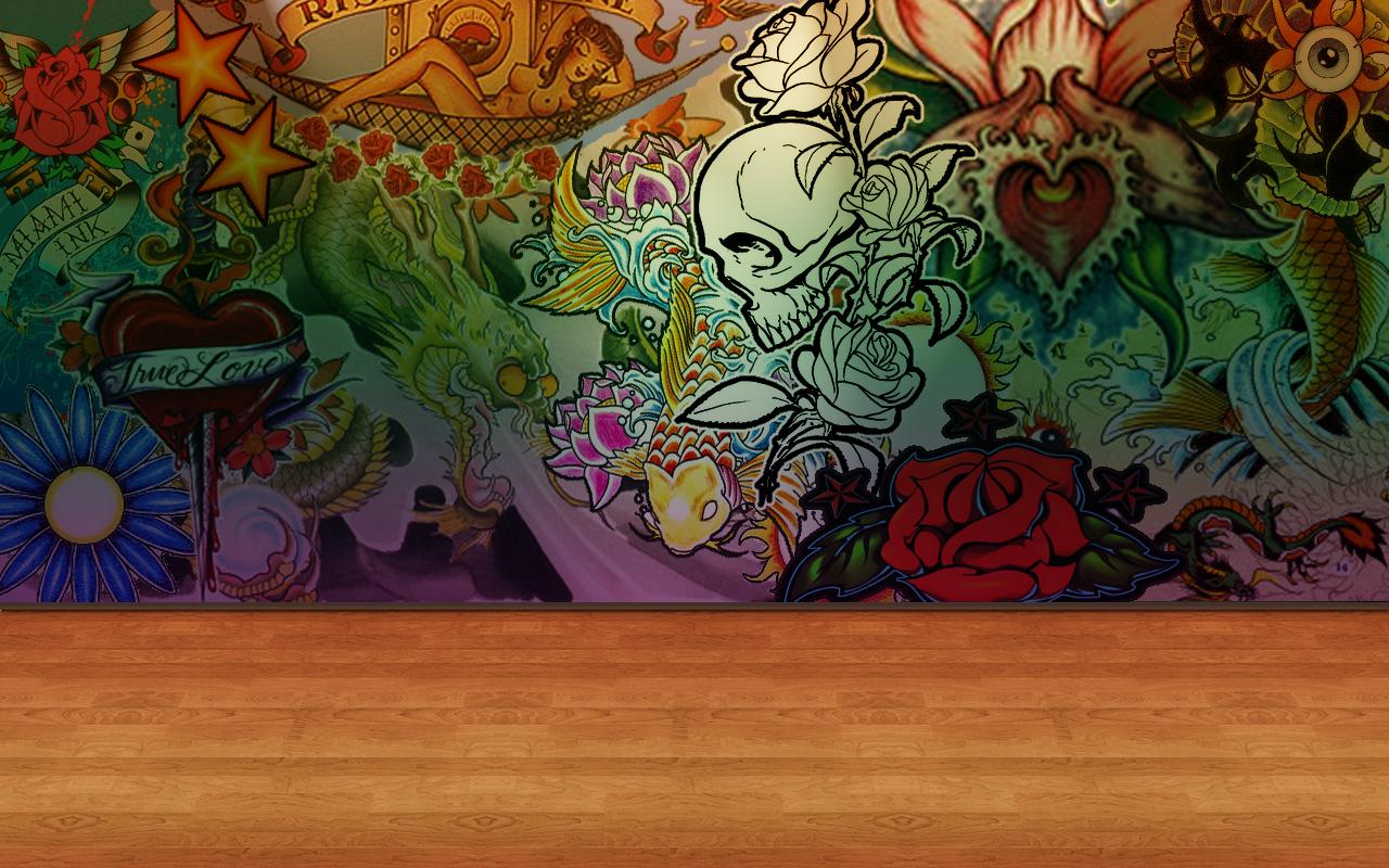 wallpaper tattoo by Krispilandia 1280x800