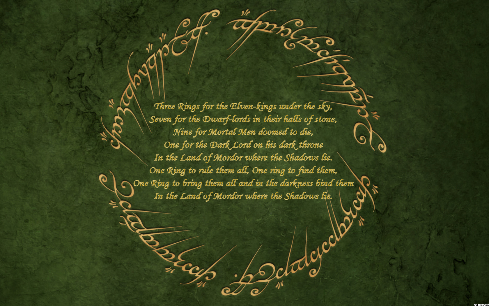 Lord of the Rings Lord of the Ring Quotes 1680x1050