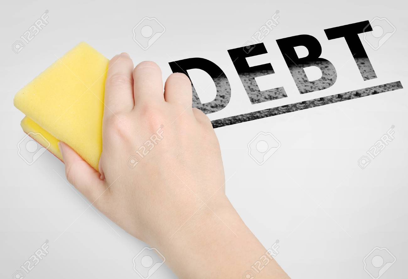 Cleaning Debt Word On Background Stock Photo Picture And Royalty 1300x891