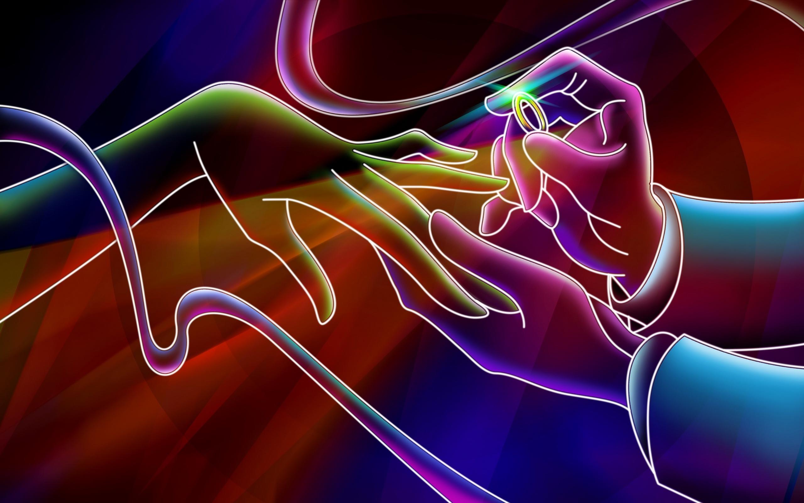 neon wallpaper background 2560x1600
