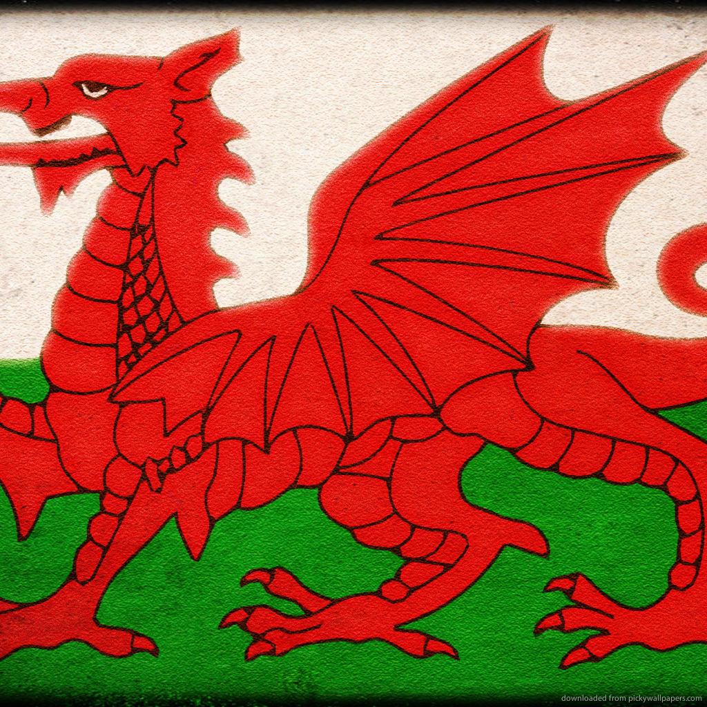 Welsh Flag Wallpaper Flag of wales for ipad 1024x1024