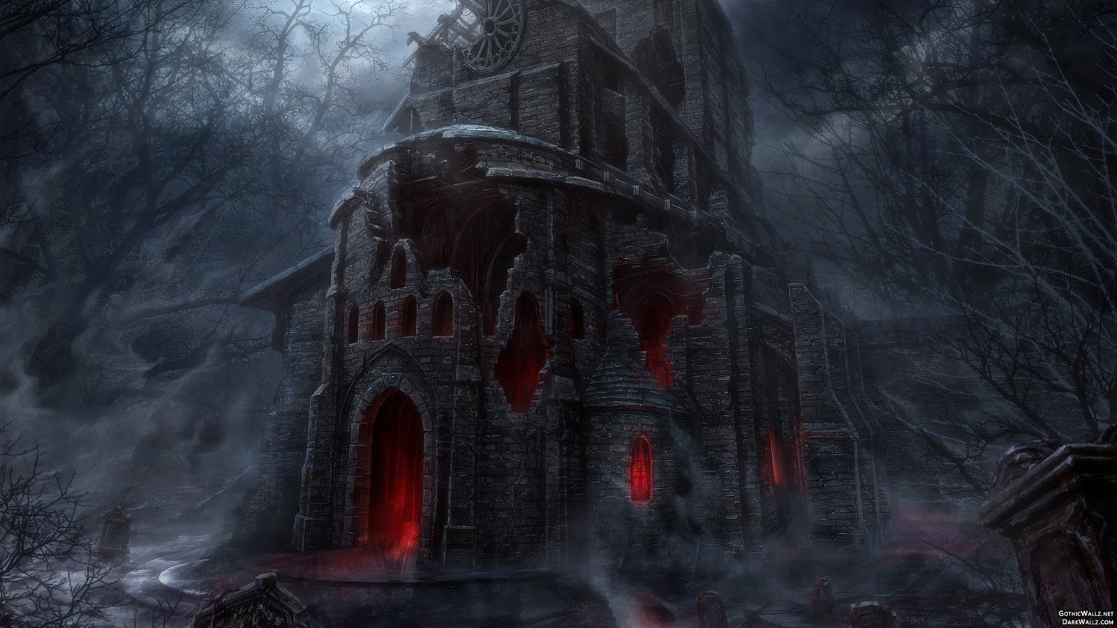 Halloween Scary Gothic House HD Desktop wallpaper images and photos 1600x900