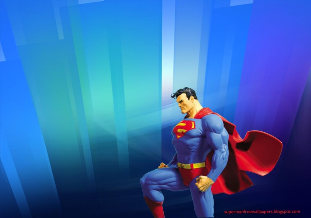 Wallpaper of Superman Statue in Crystal Landscape Desktop wallpaper 1000x700