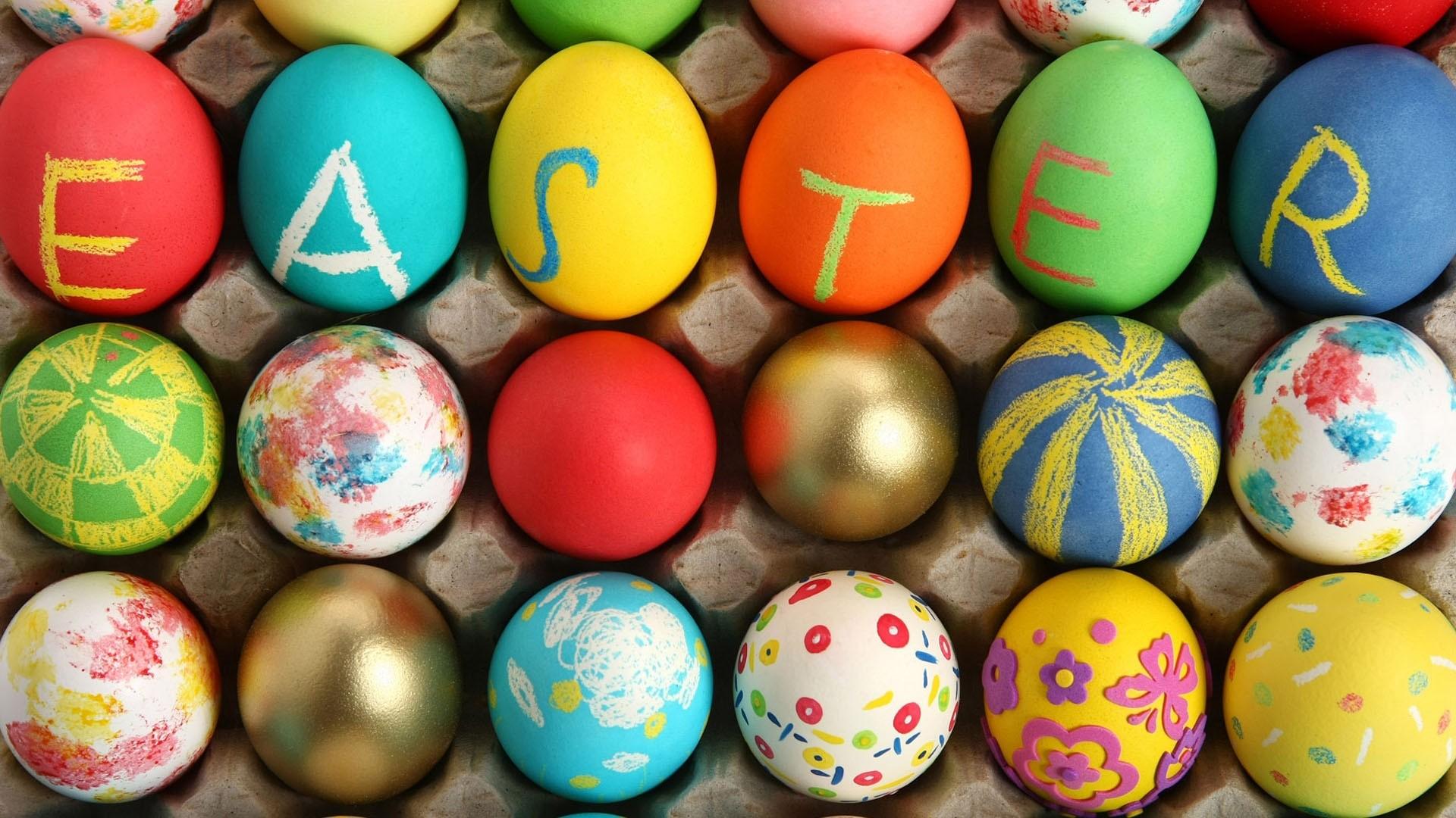 Happy Easter Eggs HD Wallpaper HD Wallpaper of 1920x1080