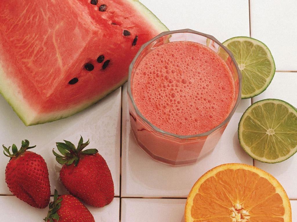 Strawberry Orange Juice Laptop Wallpaper Wallpapers 1024x768