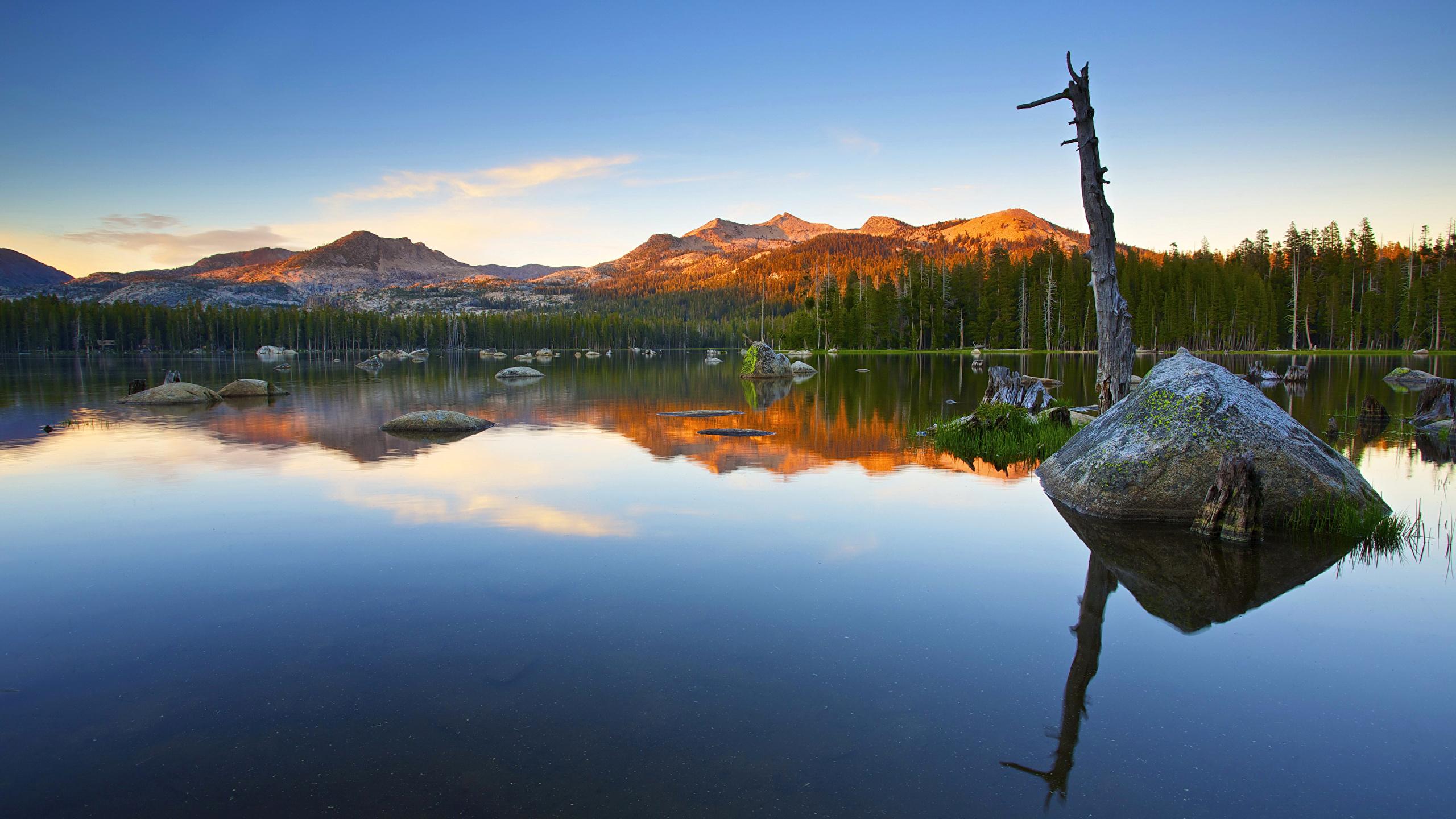 Images Nevada California USA Alpenglow Nature mountain 2560x1440 2560x1440