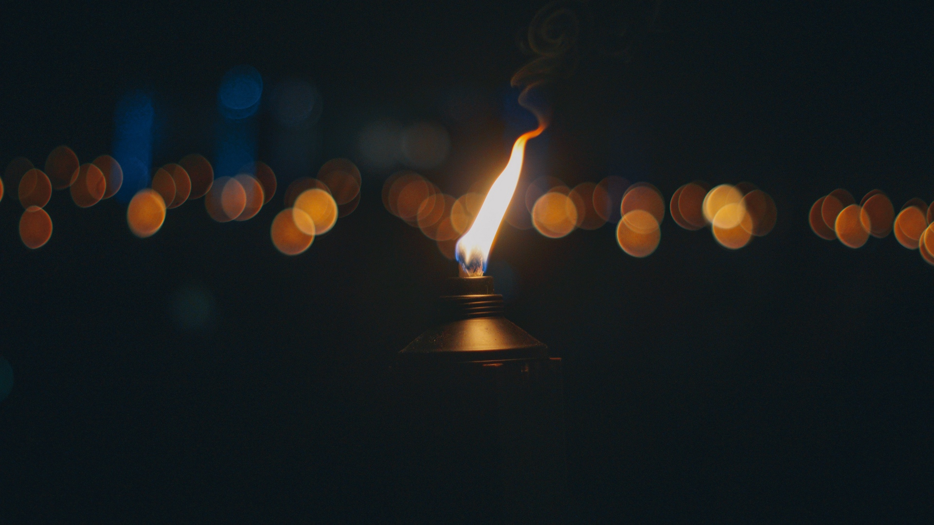 Download wallpaper 1920x1080 torch fire wick glare full hd 1920x1080
