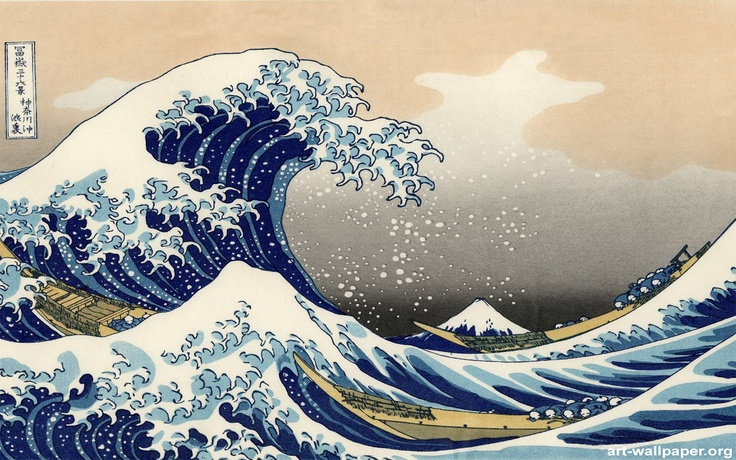 The Great Wave Wallpaper Pinterest 736x460