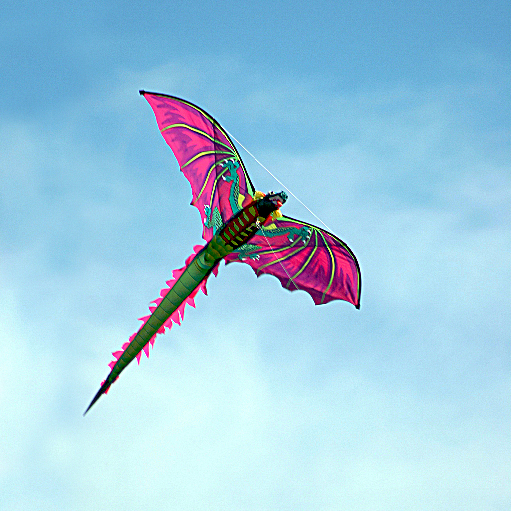 dragon kite wallpaper for iPad and iPhone Notes From The 1024x1024
