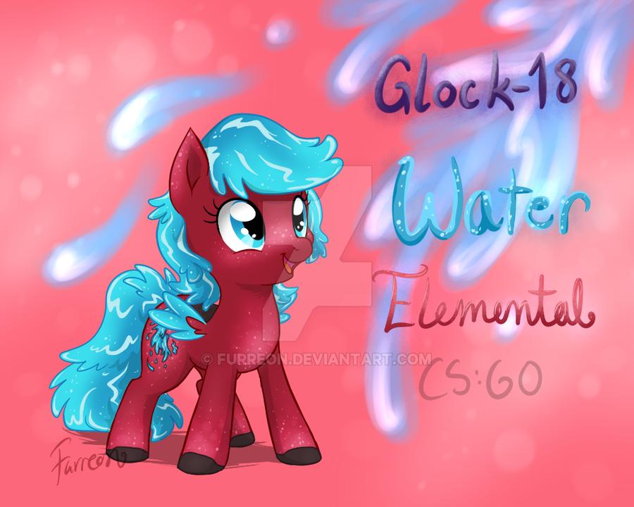 Glock 18 Water Elemental Pony CSGO by Furreon 900x720