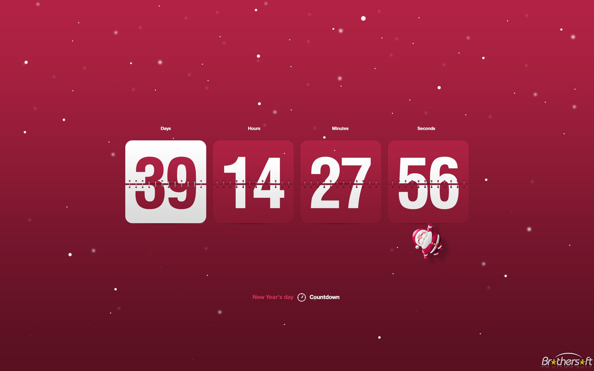 New Year Clock Countdown screensaver New Year Clock Countdown 1920x1200