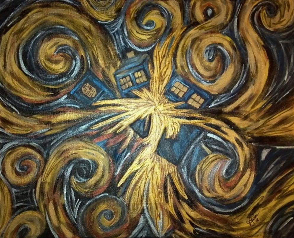 994x803px Van Gogh Exploding Tardis Wallpaper Wallpapersafari