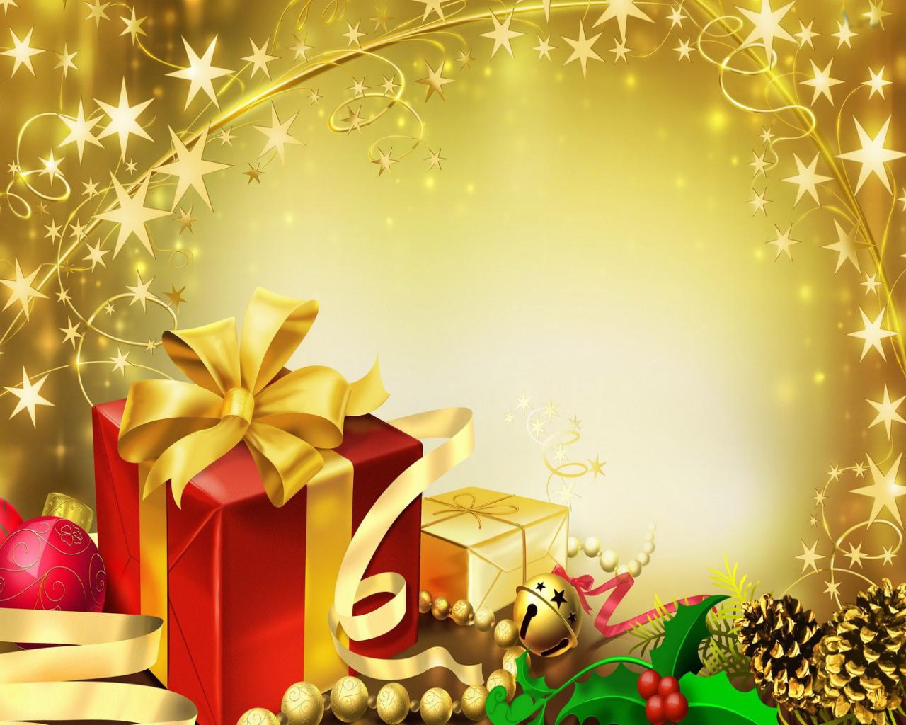 Christmas Present Desktop Wallpaper 1280x1024