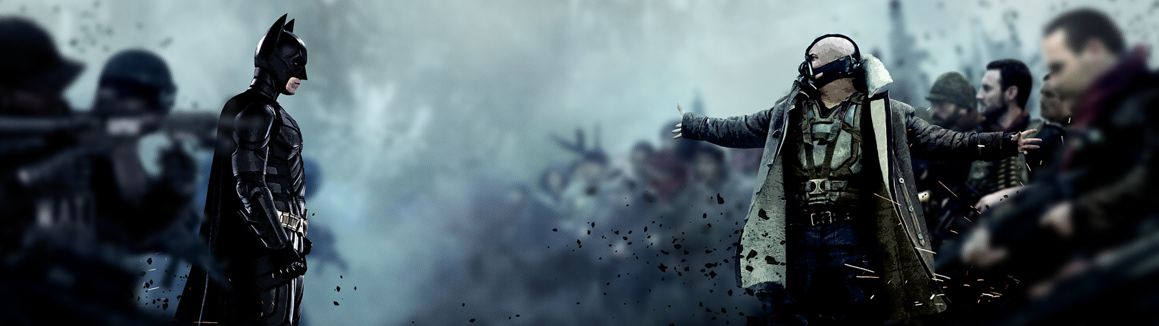 3840x1080 Awesome Dark Knight Rises Wallpaper Dual Picture 3840x1080