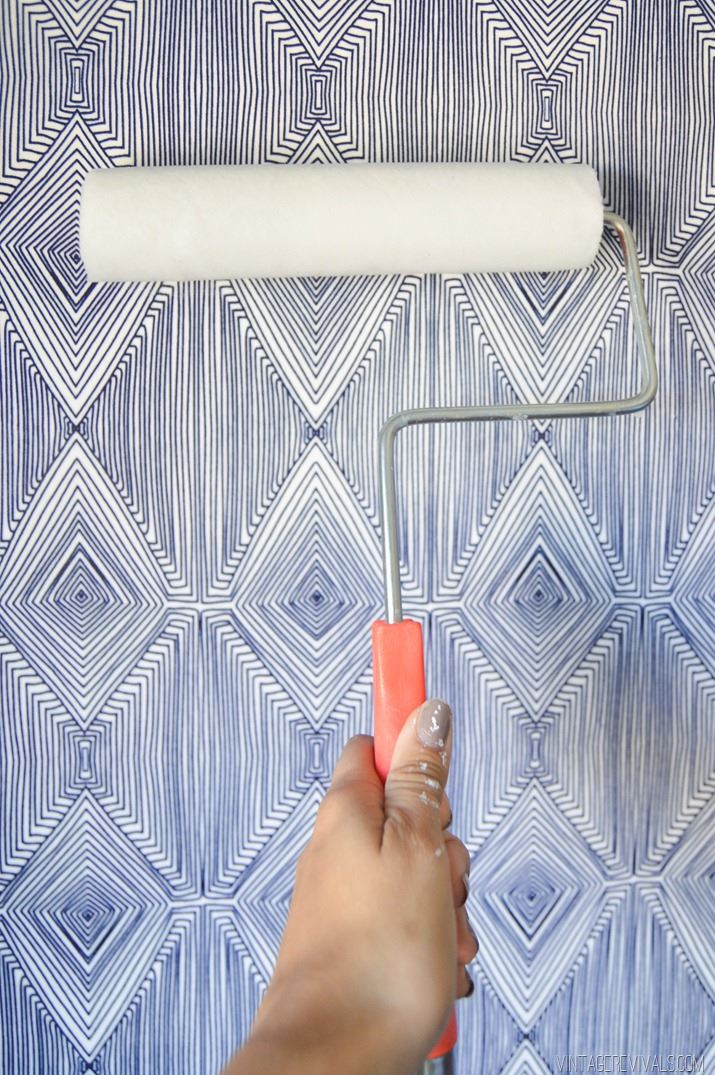 Temporary Fabric Wallpaper from Vintage Revivals 715x1075