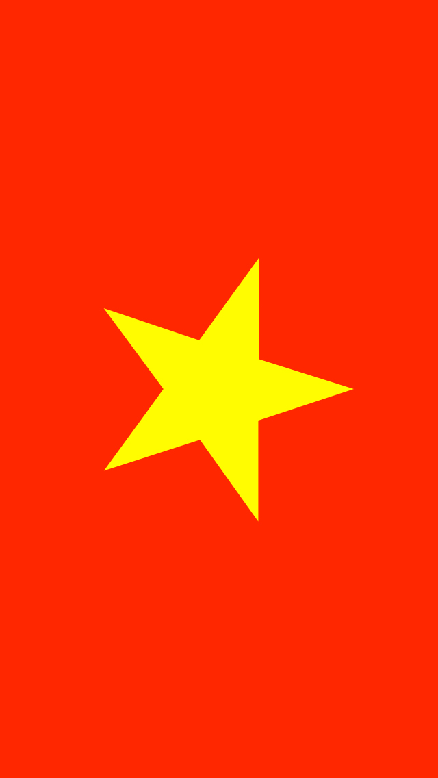 Vietnam Flag iPhone Wallpaper HD 640x1136