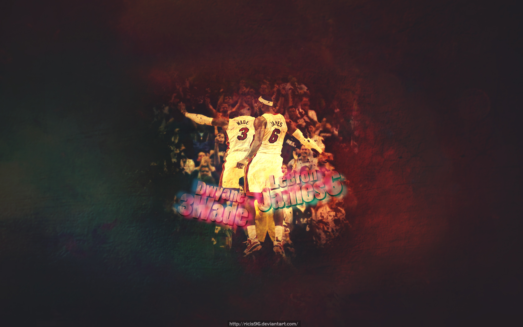 lebron james and dwyane wade by ricis96 customization wallpaper people 1680x1050