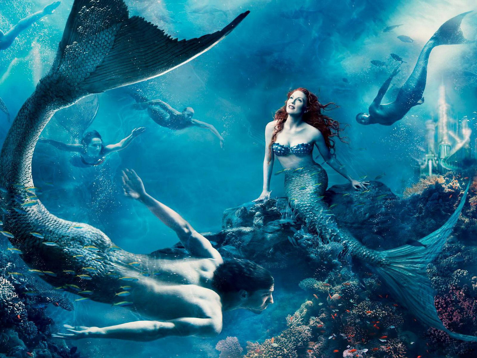 Fantasy Art Mermaid computer desktop wallpapers pictures 1600x1200