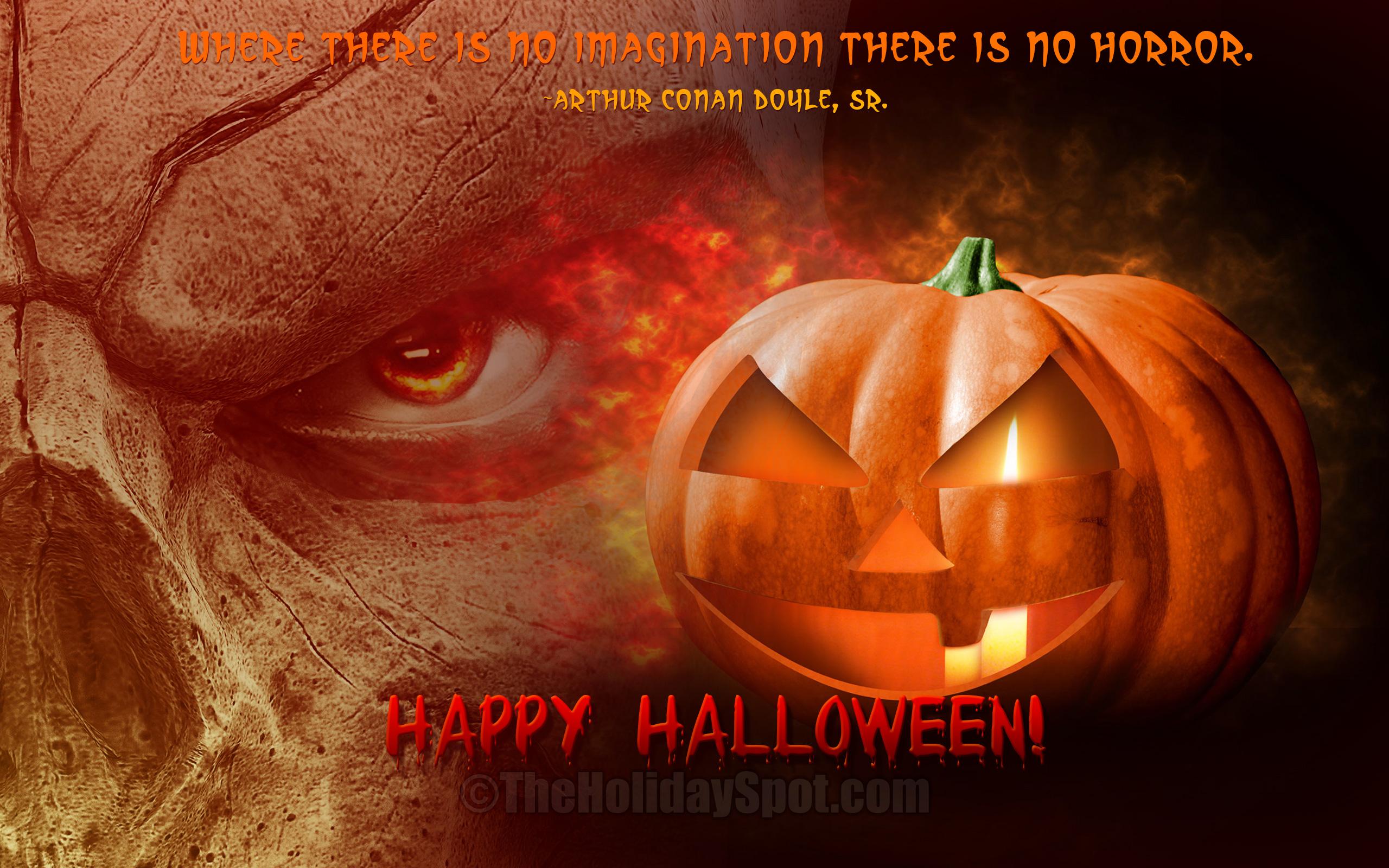 Preparing for Halloween Night wallpaper 2560x1600