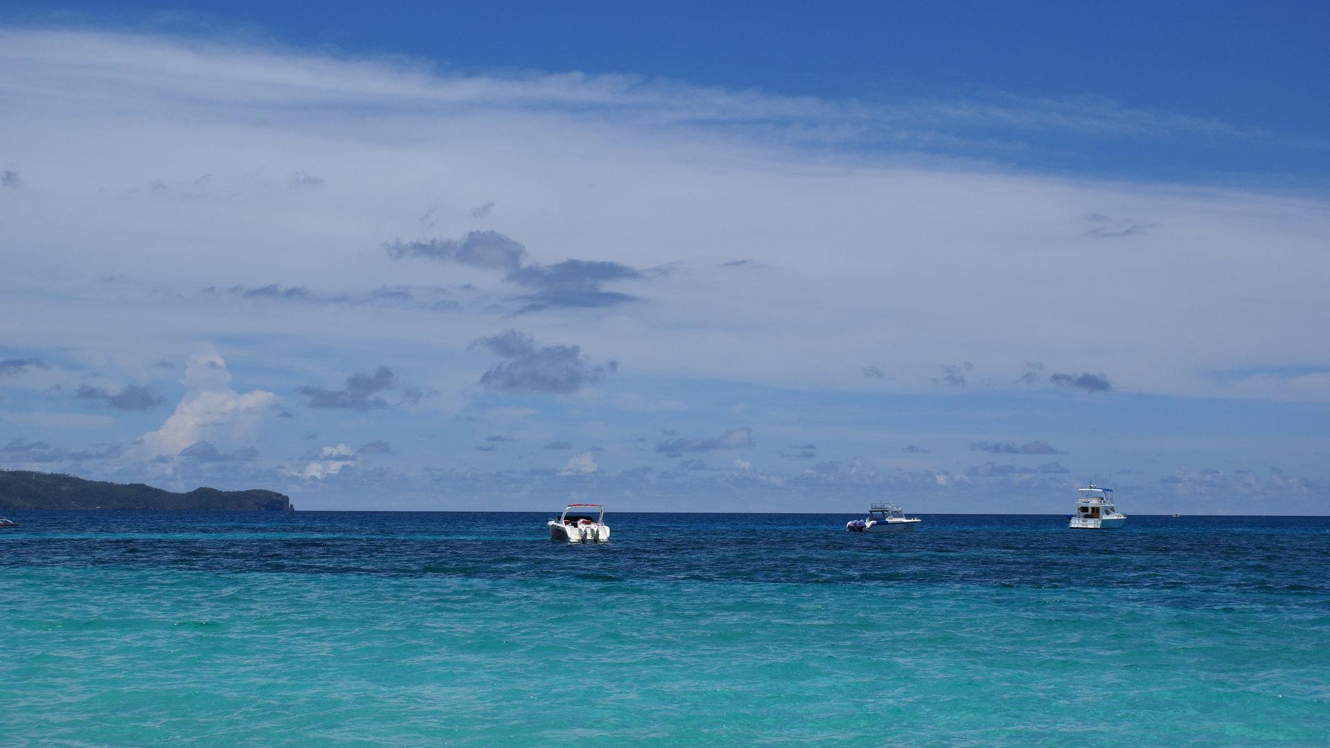 Blue ocean view   Boracay island 1920x1080
