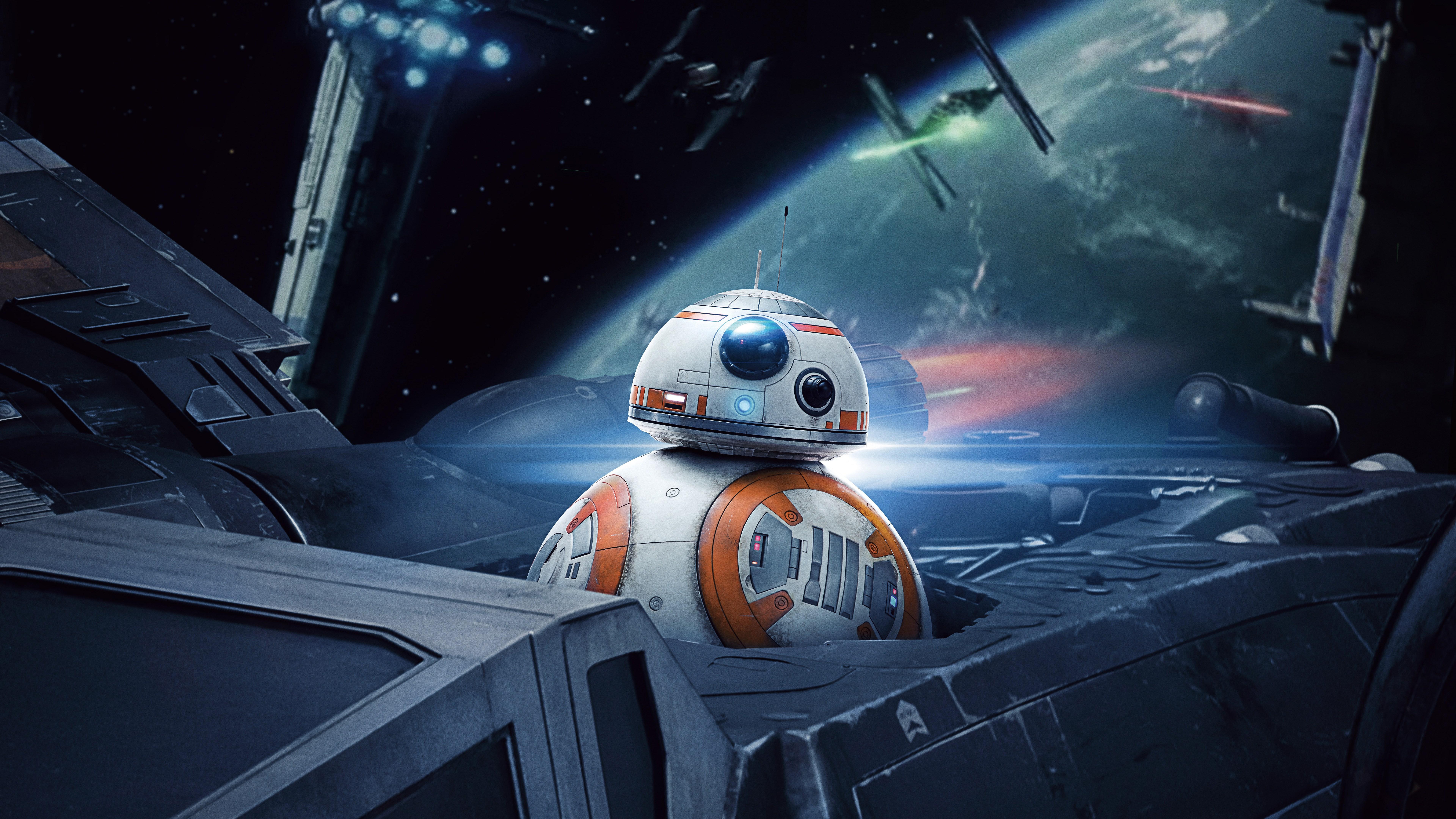 BB 8 4K 8K HD Star Wars Wallpaper 7680x4320