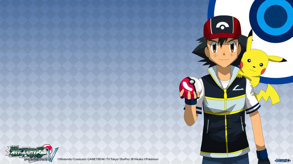 PKMN V   Ash and Pikachu 4K by Blue90 1191x670