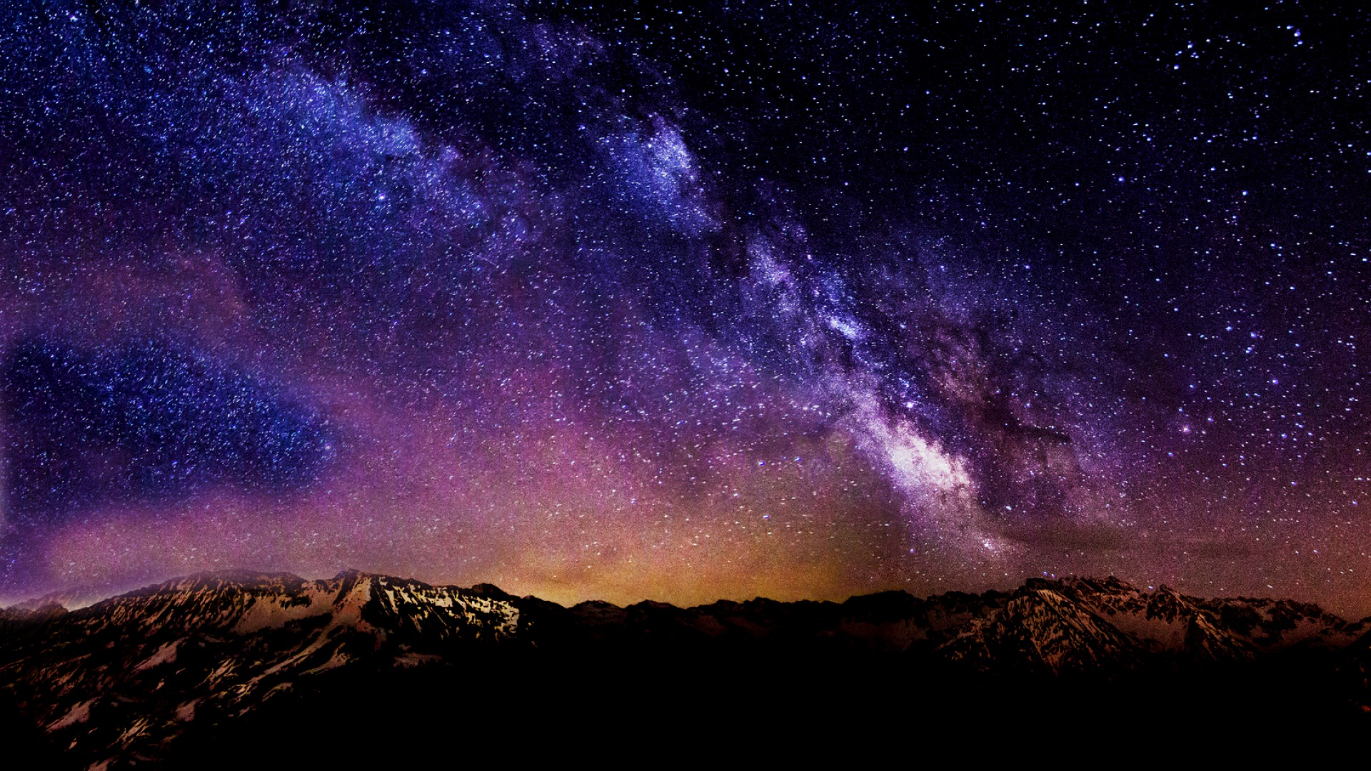 night sky desktop wallpaper