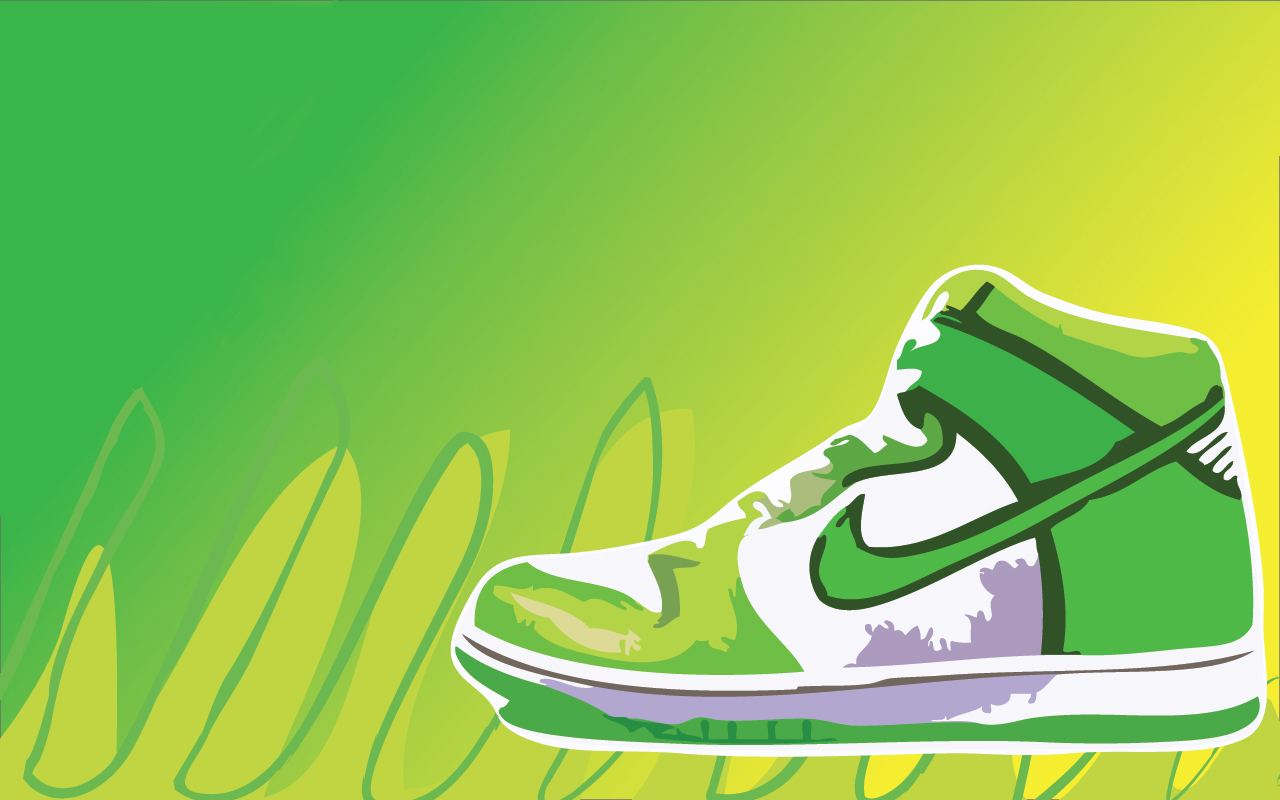 Nike Logo Green Wallpaper Green shoes wallpaper 1280x800