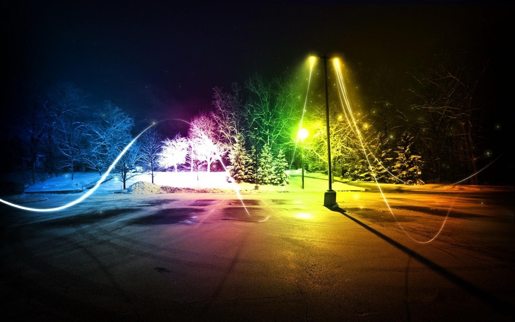Colorful City Lights   1680x1050   544603 1680x1050