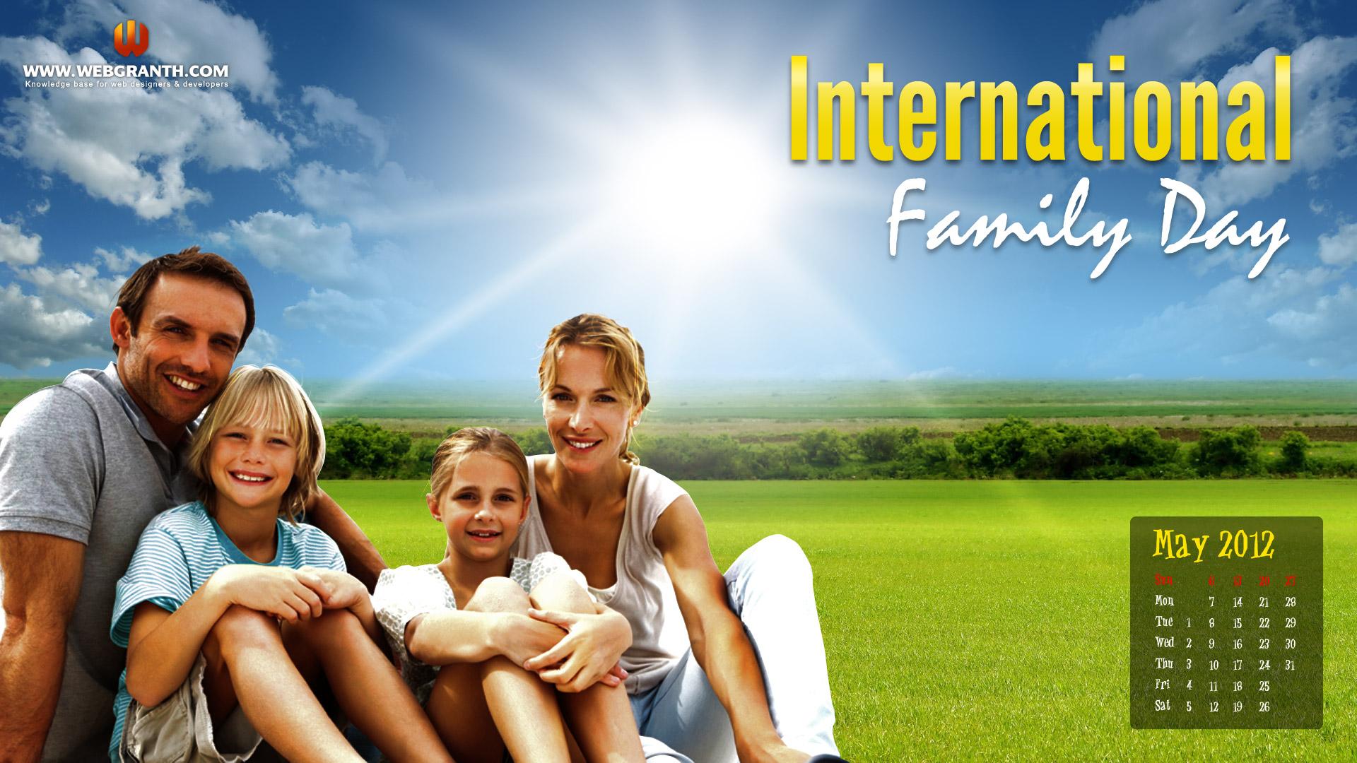 Desktop International Family Day Wallpaper   Webgranth 2015 1920x1080