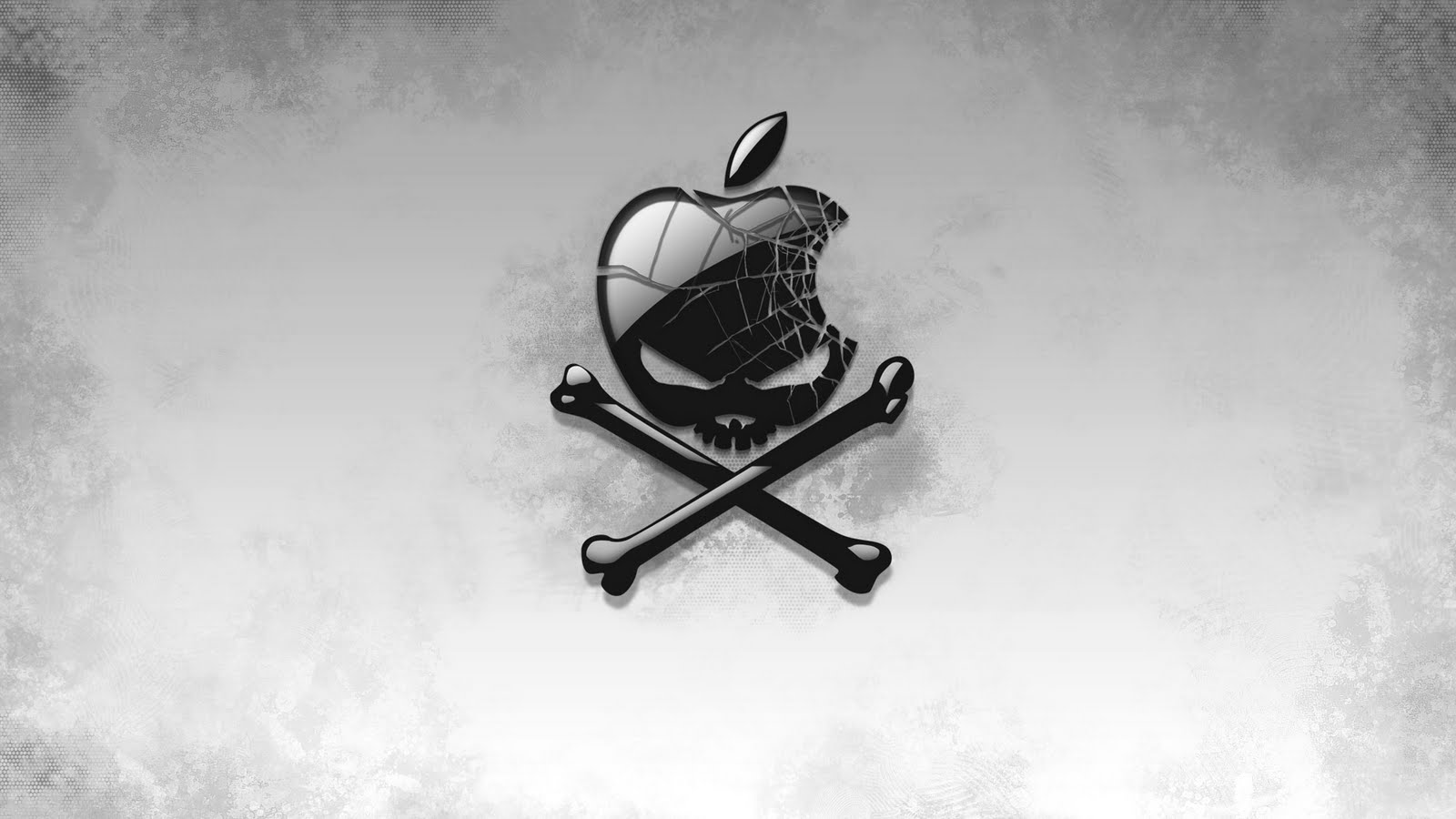 Apple skull and crossbones wallpaper 1600x900